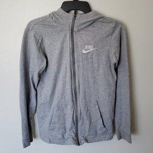 Boys Youth XL Nike Grey Zip Up Hoodie Sweatshirt